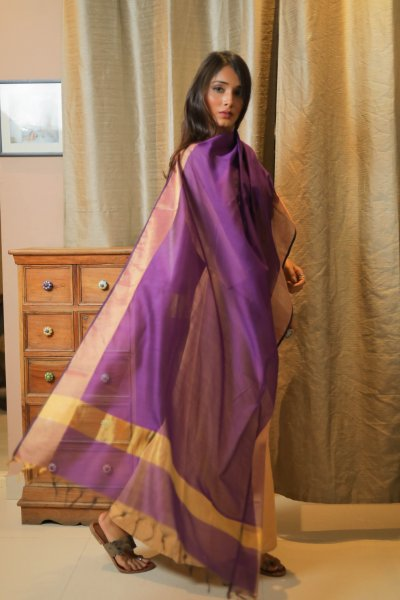Rich Purple Chanderi Dupatta